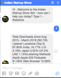 Indian Startup Show Bot